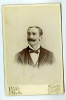 Cabinet Card Photo Man with mustache  Los Angeles CA