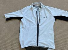 Men's Gore White / Black windstopper Cycling jersey - XXL