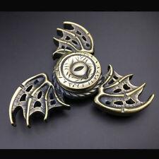 Bat Wings Tri Spinner Fidget Hand Toy EDC Desk Focus ADHD Metal Triangle Spinner
