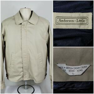 VTG~Anderson Little~Beige Lined Full Zip Jacket w/Zip-Out Wool Lining~Mens L~EUC