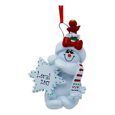PERSONALIZED Snowman Christmas Tree Ornament 2019 Holiday Gift