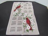 "Vintage Linen 2003 Calendar Tea Towel R. Batchelder Kay Dee Cardinals 23.5""x15"""