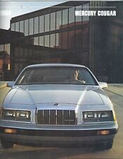 1984 Mercury Cougar Sales Brochure 84 Ford Motor Co News