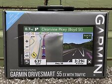 "Garmin GPS DriveSmart 55 Ex With Traffic 5.5"" Display GPS Navigator"
