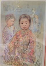 "Edna Hibel: ""Kimi-No"" framed 1981 signed limited edition lithograph"