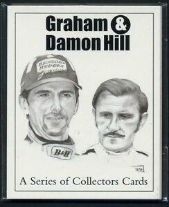 GRAHAM & DAMON HILL - Original Collectors Cards - Formula 1 - BRM Lotus Williams