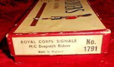BRITAINS SET#1791*BRITISH ROYAL CORPS* DISPATCH RIDER MOTORCYCLISTS*
