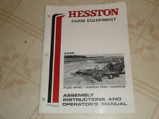 Hesston 2440 Flex Wing Tandem Disc Harrow Operators Manual