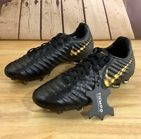 Nike Jr Legend 7 Elite FG Youth Soccer Cleats Black Gold AH7258-077 Multi Size