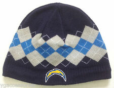 303c02c90de NFL Former San Diego Now Los Angeles Chargers Reebok Cuffless Knit Hat  Beanie
