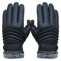 Winter Gloves Men's Leather Glove Thermal Winter Autumn Mittens Hand Wrists New