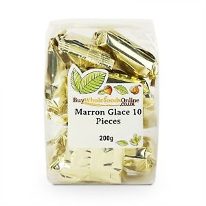Marron Glace (Candied Chestnuts) 10 Pieces 200g   Free UK Mainland P&P