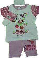 ensemble fille 2pièces 18 mois roseblanc Hello kitty Tshirt et legging court