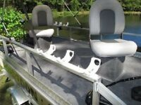 "Katydid Triple Bay Flat ""Spider"" Fishing Rod Holders for Boats or Docks"