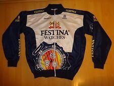 vintage Sibille FESTINA cycling jacket polar coat TOUR DE FRANCE 1996