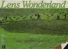 181874 CANON FD LENS GENUINE GUIDE BOOK