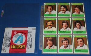 1978 Scanlens Cricket Full Set of 72 Cards Including Checklists Wrapper NM/Mint