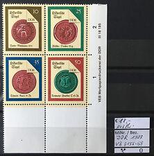DDR 1988 Historische Siegel (II) Viererblock 3156 - 3159 DV L postfrisch
