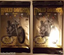 2 Packs, Harley-Davidson 10 Premium Collector's Cards From 1993, SERIES 3 ~NEW~