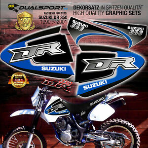 """SUZUKI DR 350 """"BULLETLINE BLUE"""" Dekorsatz, Stickers, Aufkleber, Graphics byDSFX"""