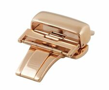 20mm Hadley-Roma Pink / Rose Gold Butterfly Deployment Buckle Clasp BKL100R
