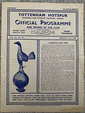 More details for tottenham / spurs  v leicester city fa cup 1947/48