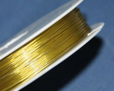 100m Gold Tigertail Wire 0.45mm - Beading Wire Jewellery Making