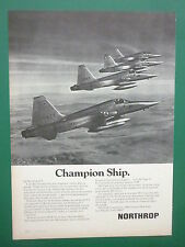9/1974 PUB NORTHROP F-5E TIGER II NORWAY NORWEGIAN AIR FORCE ORIGINAL FRENCH AD
