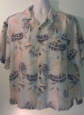 XL Joe Marlin Hawaiian Shirt Rayon with Coconut Buttons