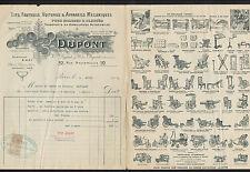 """PARIS (VI°) USINE de LITS FAUTEUILS & CHAISES ROULANTES """"André DUPONT"""" en 1912"""