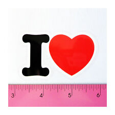 Skateboard Laptop Guitar Bumper PVC Decal Sticker - I Love Red Hot Heart Sweet