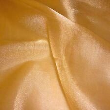 Boda Organza Tela De Cristal De Oro-cortinas-Floaty (por Metro)