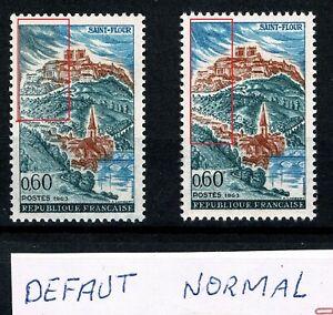 FRANCE 1963 Saint-Flour   YT n°1392 neuf ★★ luxe / MNH  Erreur Couleur