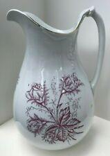 New listing Vintage Ironstone China E.T.P East Trenton Pottery Company Pitcher, Rare