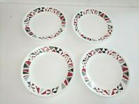 "Corelle Mosaic Red UNUSED 4.  6.75"" Appetizer Plates BRAND NEW"