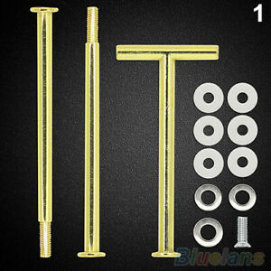 10SET 2/3Tier Cake Cupcake Plate Stand Handle Fitting Hardware Rod Wedding Party