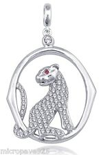 Superb Panther Design Pendant With Pave Setting With White Cubic Zirconia Stones