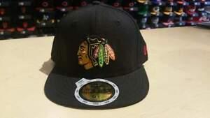 New Era NHL Chicago Blackhawks Team Logo Black Youth 59Fifty Fitted Cap NewEra