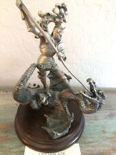 Chilmark Pewter The Dragon Slayer Sculpture by David LaRocca 1983