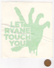 LET RYANE TOUCH YOU Window Sticker-Zombie Hand-Promo Decal-Green-