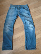 mens levi 501 distressed style jeans - size 34/34 good condition