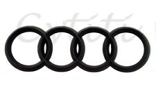 Brand New AUDI Front Grill or Rear Trunk Logo Badge Emblem BLACK