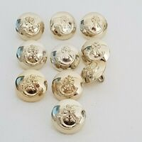Light infantry all staybrite anodised set of 10 buttons gold tone