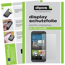 2x HTC One M9 Schutzfolie matt Displayschutzfolie Antireflex One M 9 Folie dipos