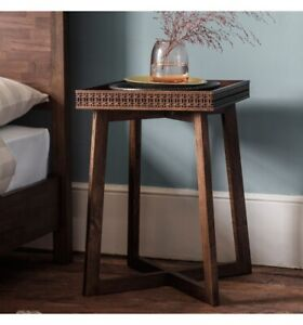 A Frank Hudson Boho Retreat Bedside Table. Mango Wood. Brand New