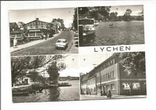 """Ak Lychen im Kreis Uckermark, Mehrbild (Café Alte Mühle, HOG """"Ratseck"""") 1984 s/w"""
