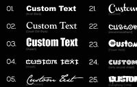 2X CUSTOM VINYL DECAL sticker trials bike motocross CHOOSE COLOUR & FONT