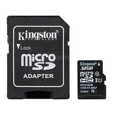 Kingston Class 10 32GB MicroSD TF Flash Memory Card 48MB/s w/Card Adapter Z1X6