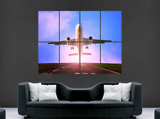 AEROPLANE TAKEOFF POSTER AIRPORT FLYING PRINT ART WALL LARGE IMAGE