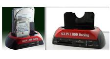 """2.5""""3.5"""" Dual Slots USB 3.0 SATA IDE HDD Docking Station Hard Drive Card Reader"""